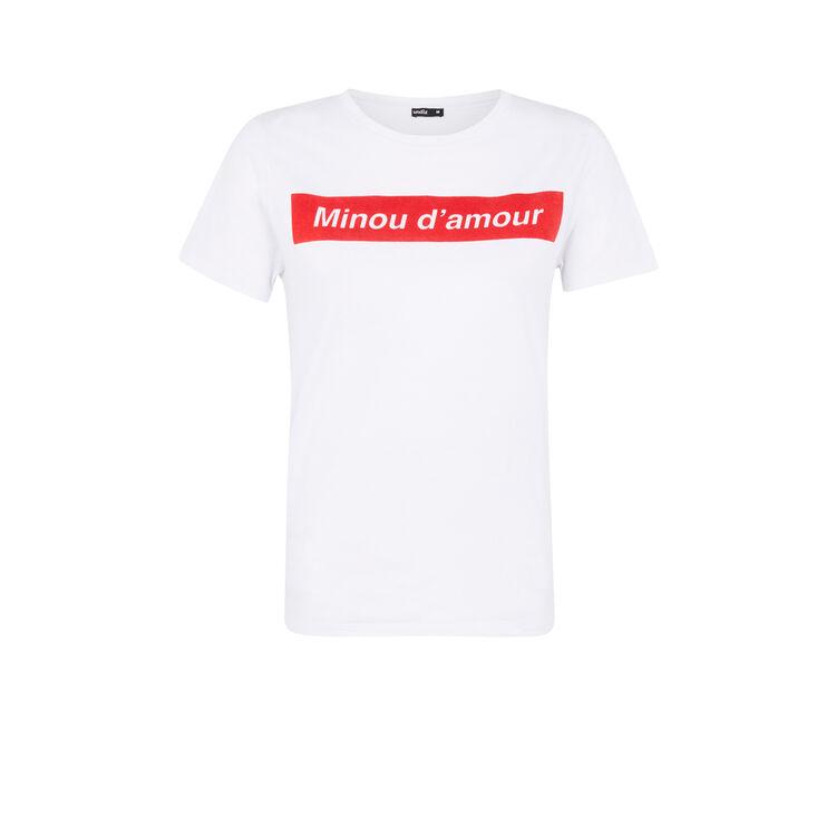 Camiseta blanco minousiz;