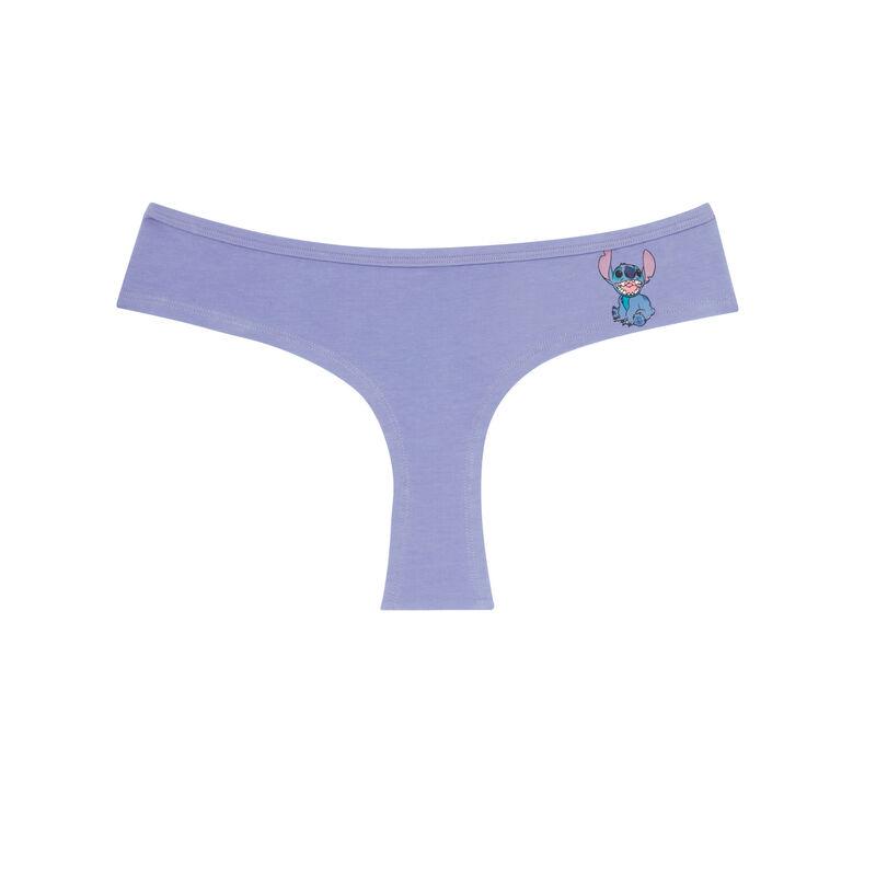braguita culotte de algodón Stitch - violeta;