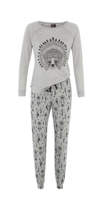 Conjunto de pijama gris ratoniz  grey.