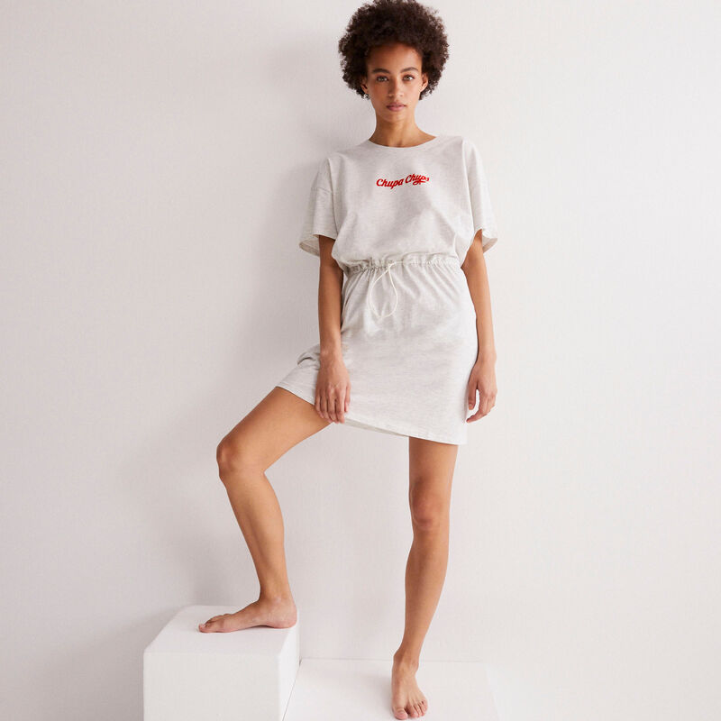 vestido con lazada Chupa Chups - gris jaspeado;
