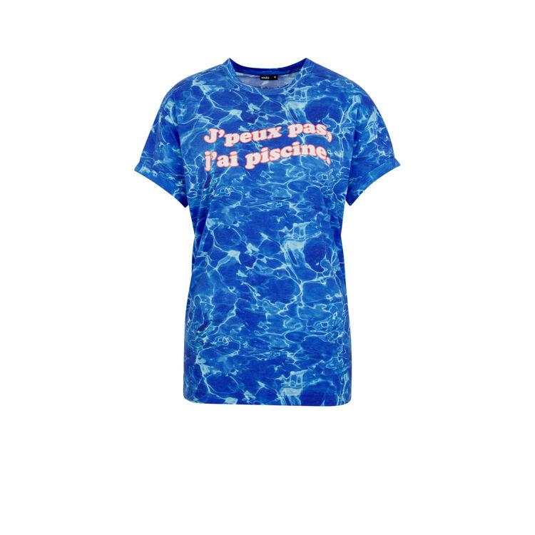 Camiseta azul pisciniz;