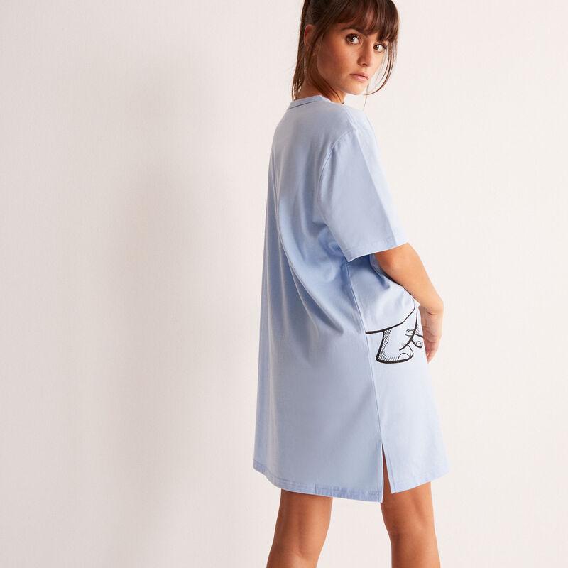 camiseta larga con estampado de Dumbo - azul claro;