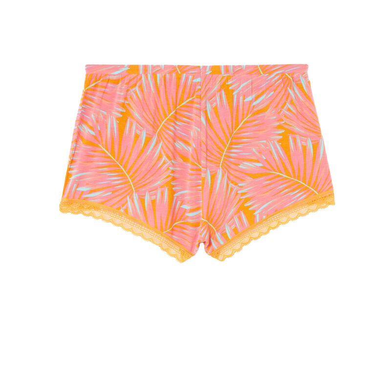 shorts con estampado tropical de punto - mango;
