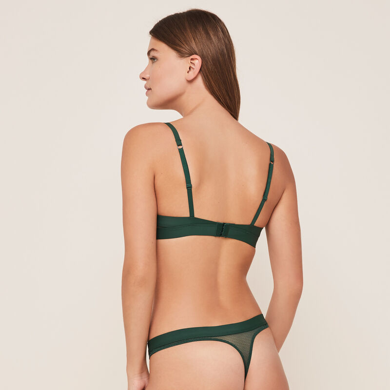 sujetador ultra push-up verde appeliz;