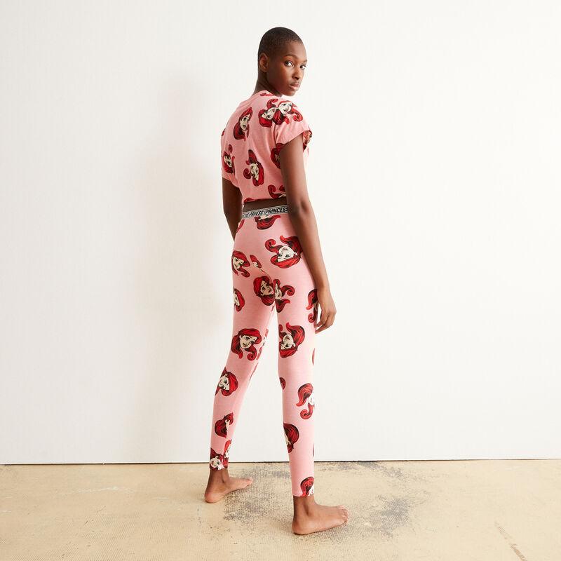 leggings con motivos de La Sirenita - rosa;