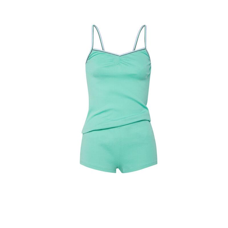 Conjunto de camisola + shorts - verde;