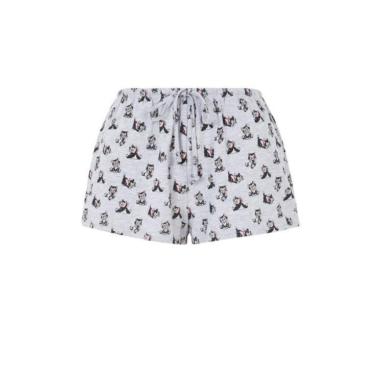 Pantalón corto de punto con estampado Figaro itsfridayiz;