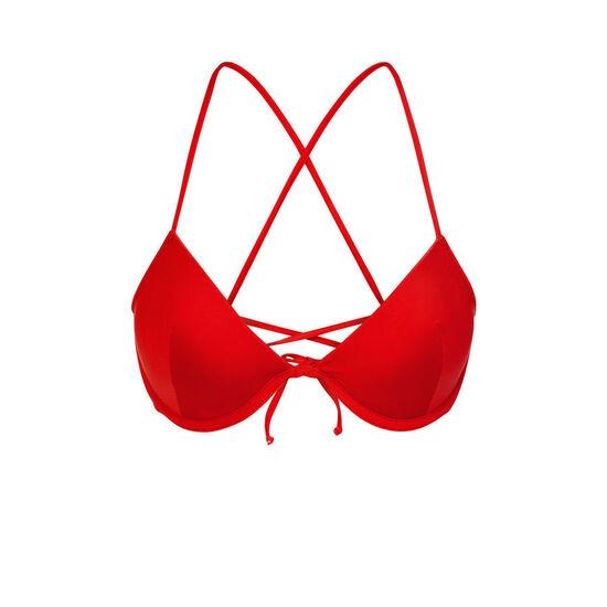 Parte de arriba de bikini roja alohiz;