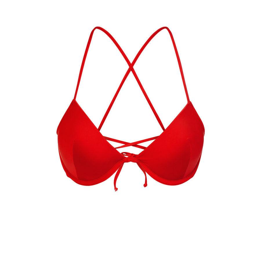 Parte de arriba de bikini roja alohiz;${refinementColor}