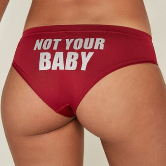 Slip burdeos notyourbabiz biking red.