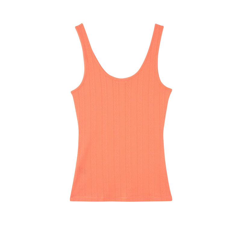 camiseta lisa de punto con puntitos - roja;