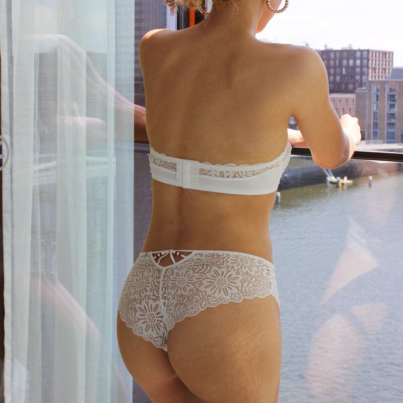 Braguita culotte de encaje - blanca ;