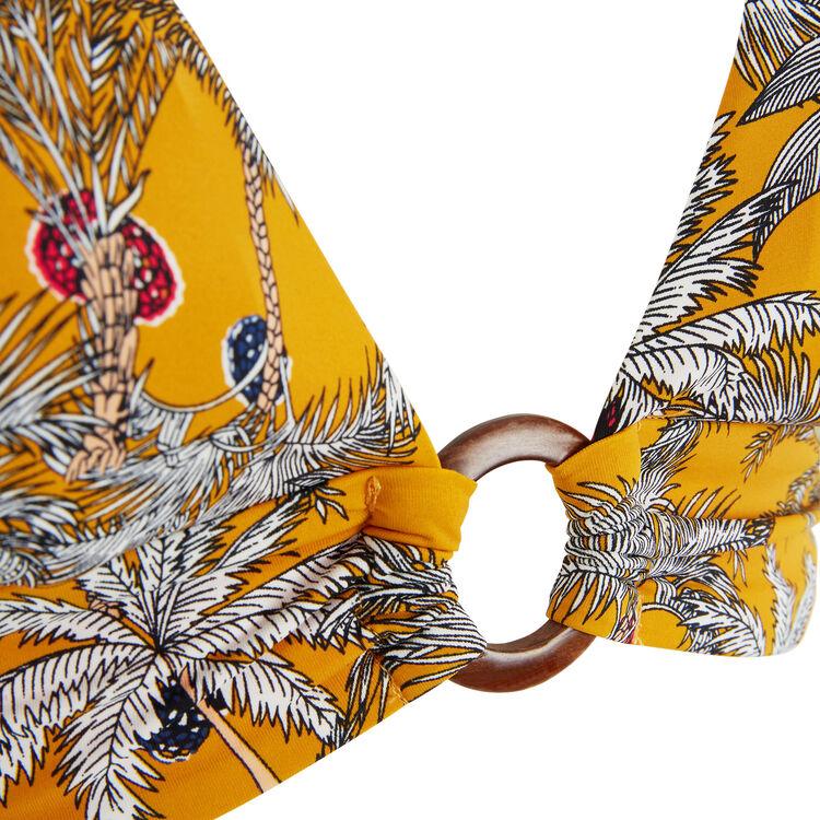 Top de bikini triangular amarillo Teneriz;