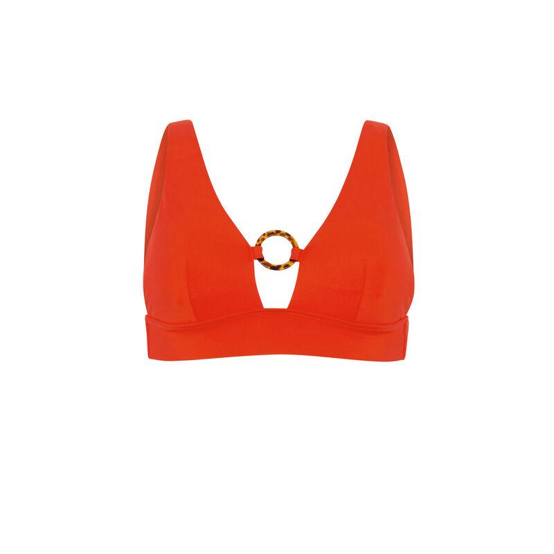 Parte de arriba de bikini triángulo - rojo;