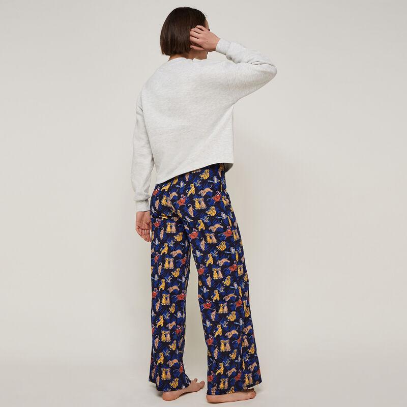 Pantalón ancho con estampado simbaliz;