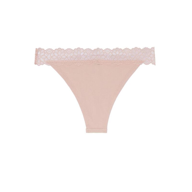 braguita brasileña con encaje elástico - rosa;