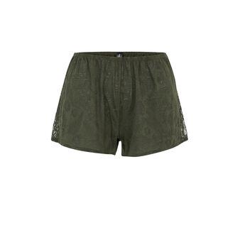 Short caqui tropaliz green.