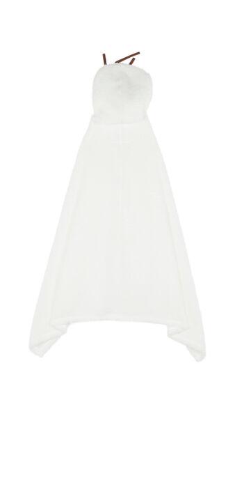 Poncho blanco olafiz white.