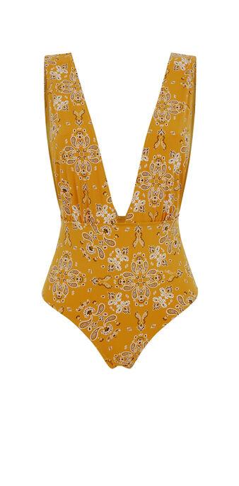 Bañador de una pieza amarillo mostaza jodhpuriz yellow.