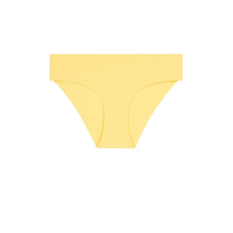 Braguita culotte lisa de algodón amarillo pastel ;