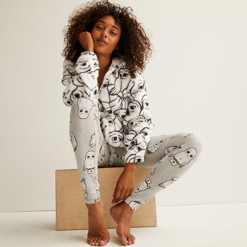 chaqueta de forro polar con motivos Hedwige - blanco;