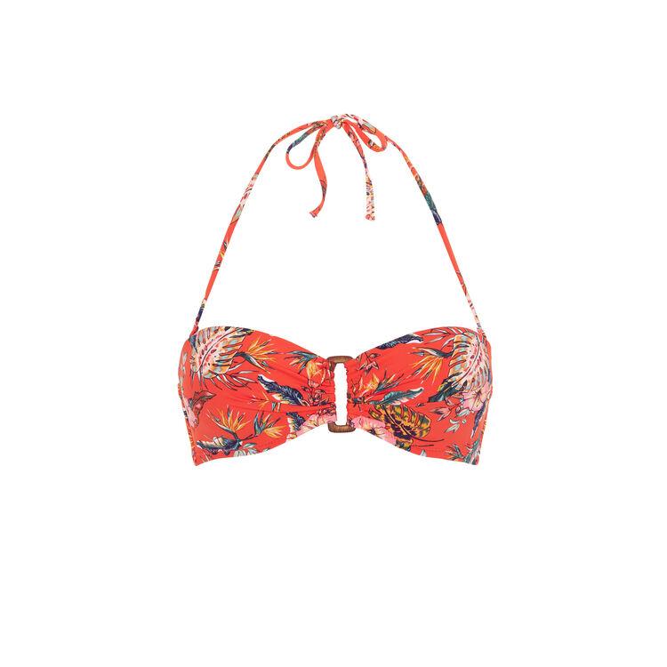 Top de bikini bandeau tropical Spaniz;