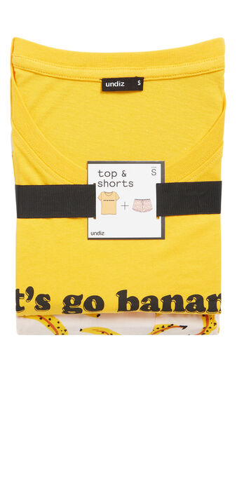Conjunto de pijama amarillo englilabananiz  yellow.