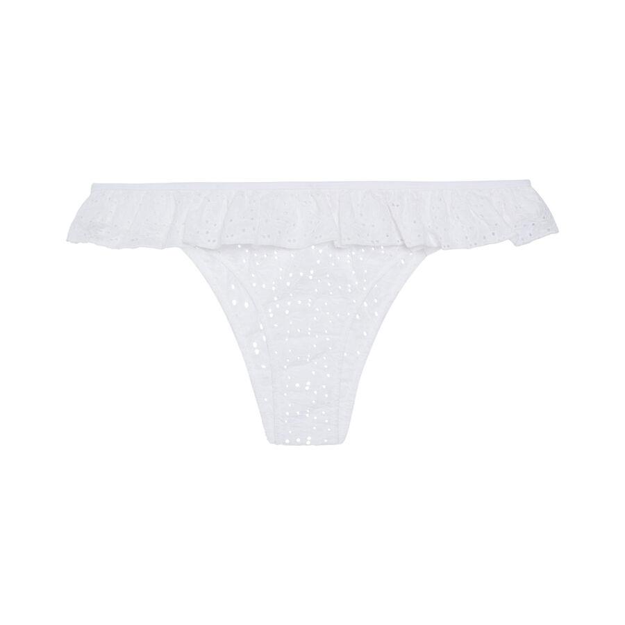 Culotte tanga blanco henriettiz ;