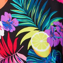 Túnica tropical multicolor guadeloupiz zwart.