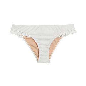 Braga de bikini blanco roto eloiz white.