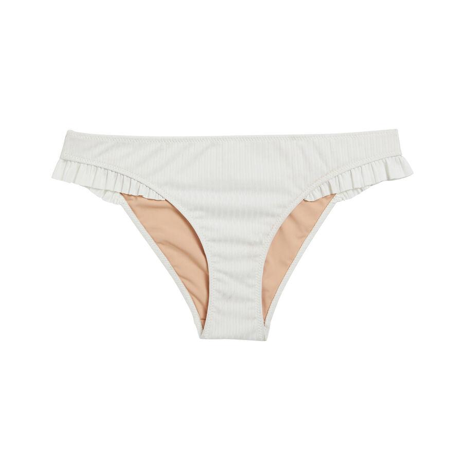 Braga de bikini blanco roto eloiz;