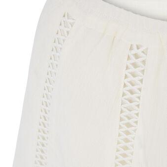 Short blanco roto lilopopiz white.