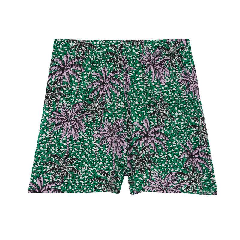 Short con motivos de palmera - verde;