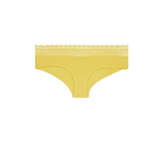 Braguita culotte amarilla waistiz;