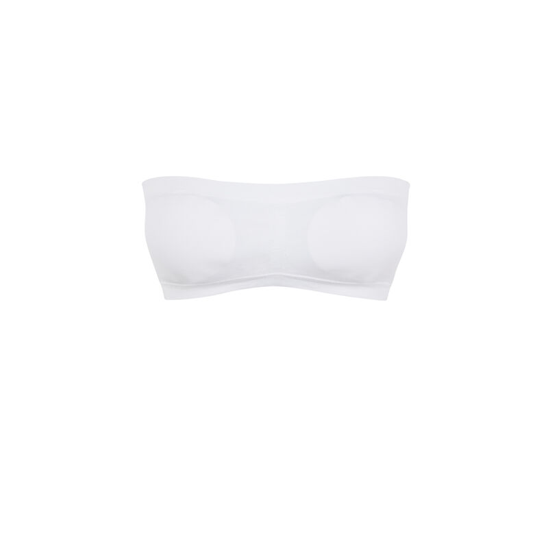 Sujetador bandeau sin costuras - blanco;