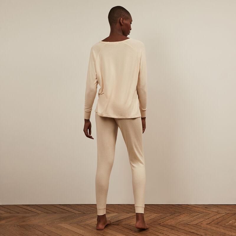Pantalón de punto - blanco roto ;
