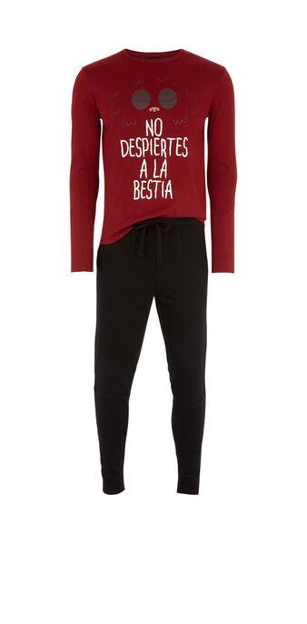 Conjunto de pijama burdeos despiertiz red.