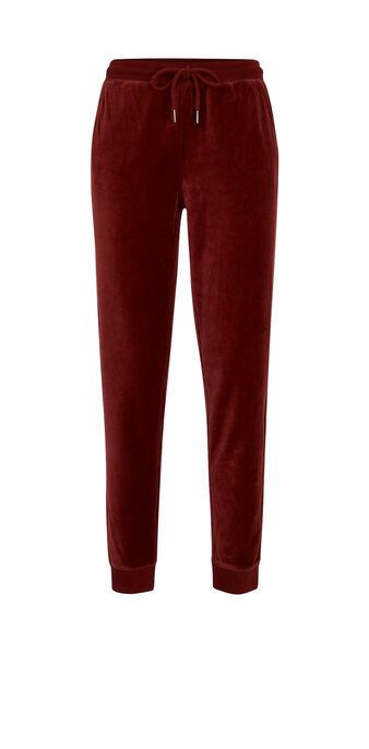Pantalón burdeos largecrochiz red.