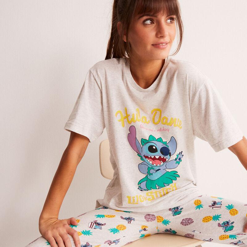 top con estampado de Stitch Hula Dance - crudo;