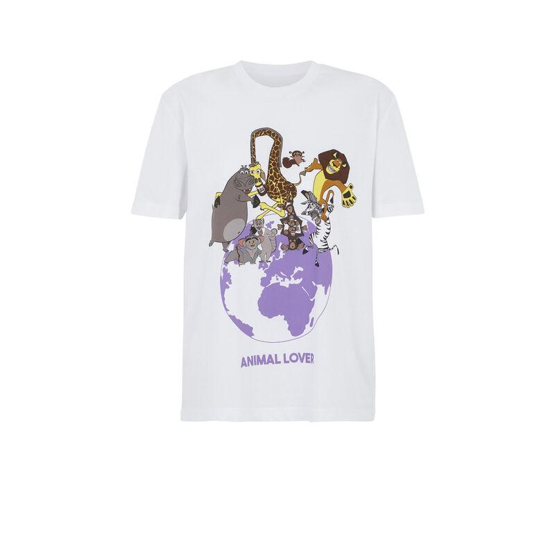 camiseta manga corta con estampado animales animaloviz;