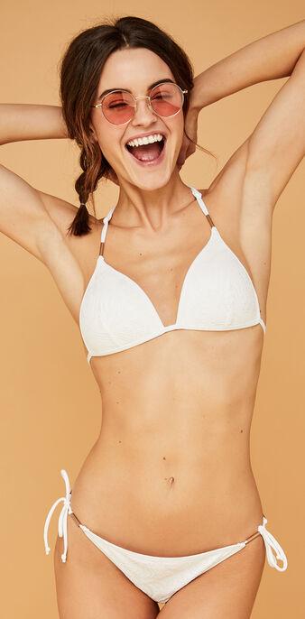 Top de bikini triangular blanca lagooniz weiß.
