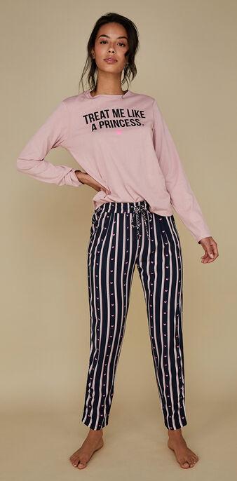 Set pyjama rose zertiz pink.