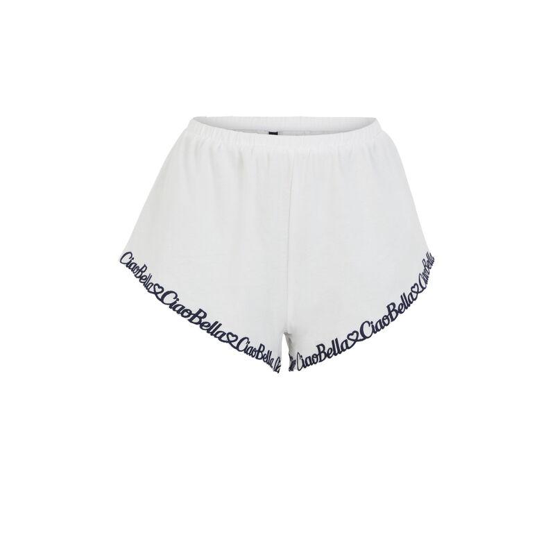 Short bordado Ciao Bella - blanco;