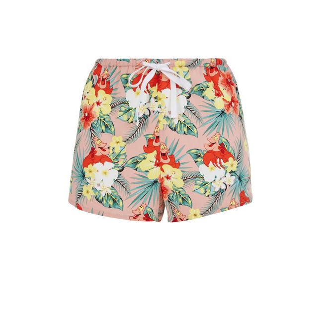 Shorts tropical rosa Crabiz;