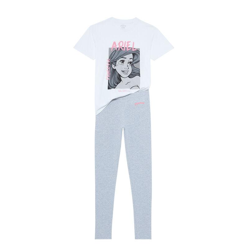 juego de pijama de manga corta La Sirenita - blanco;