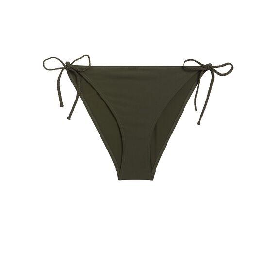 Top de bikini triangular caqui exotiz;