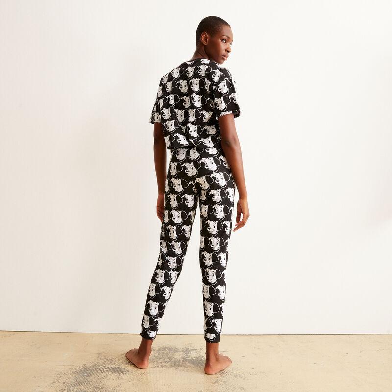 Pantalón con motivos de 101 Dálmatas - negro;