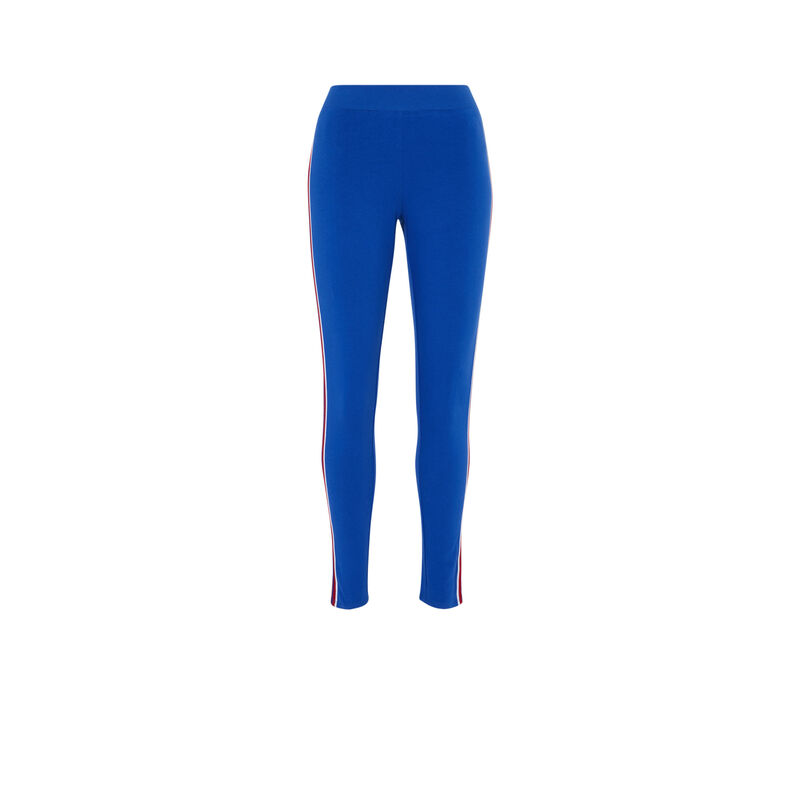 Leggings con tiras - azul;
