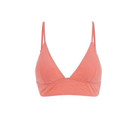 Parte de arriba de bikini triangular rosa kalimeriz;