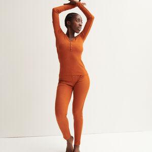 leggings acanalados moteados - camel